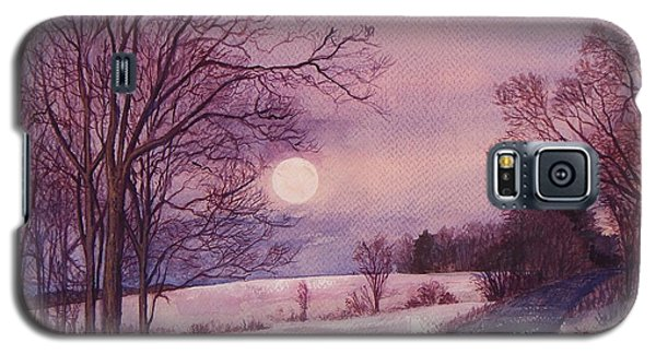 Galaxy S5 Case featuring the painting Moon Rising by Joy Nichols