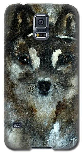 Galaxy S5 Case featuring the painting Moon Shadow The Baby Fox by Barbie Batson