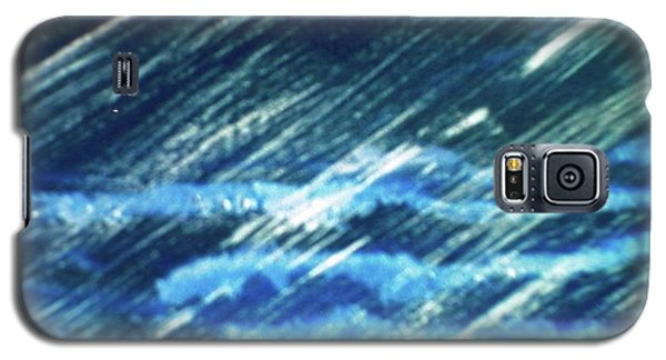 Galaxy S5 Case featuring the painting Moon Shining Through Rain by Pamela  Meredith