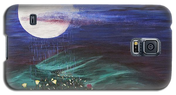 Galaxy S5 Case featuring the painting Moon Showers by Cheryl Bailey