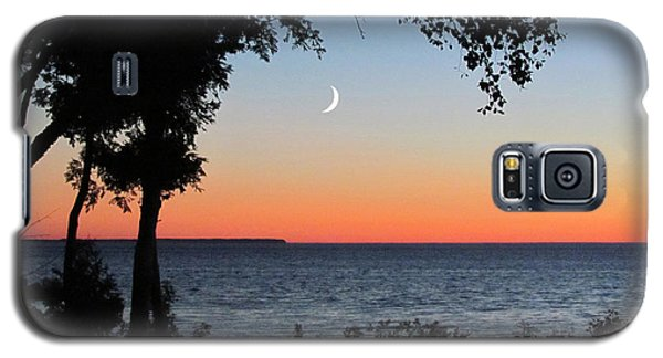 Moon Sliver At Sunset Galaxy S5 Case
