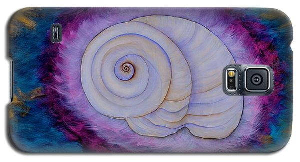 Galaxy S5 Case featuring the painting Moon Snail by Deborha Kerr