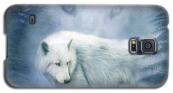 Moon Spirit 2 - White Wolf - Blue Galaxy S5 Case