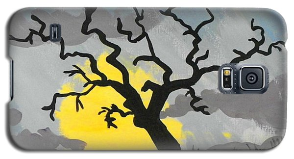 Galaxy S5 Case featuring the painting Moon Tree by Marisela Mungia