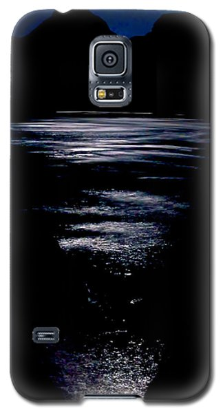 Moon Water Galaxy S5 Case by Britt Runyon