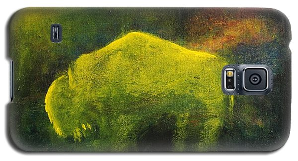 Galaxy S5 Case featuring the painting Moonlight Buffalo by Barbie Batson