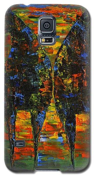 Galaxy S5 Case featuring the painting Moonlight Horses by Jennifer Godshalk