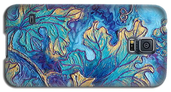 Galaxy S5 Case featuring the painting Moonlight On The Vine by Sandi Whetzel