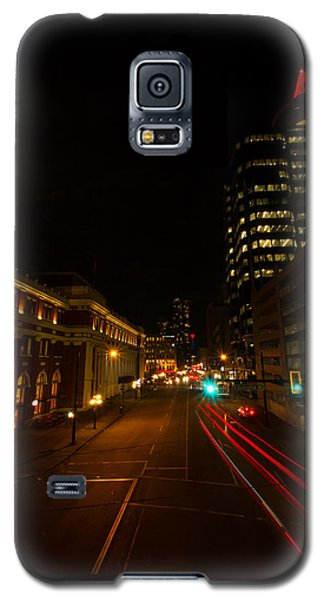 Galaxy S5 Case featuring the photograph Moonlight Over The City by Haren Images- Kriss Haren
