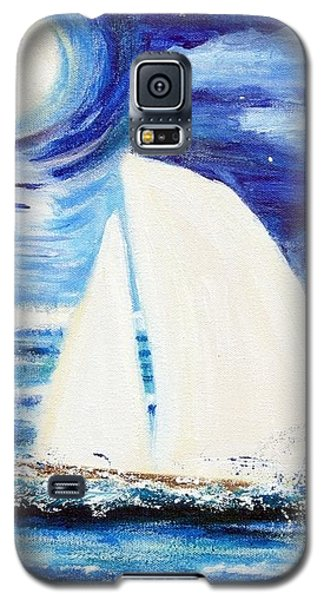 Moonlight Sail Galaxy S5 Case by Diane Pape
