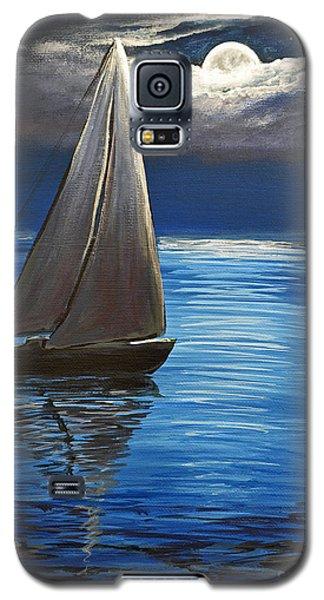 Moonlight Sailing Galaxy S5 Case by Patricia L Davidson