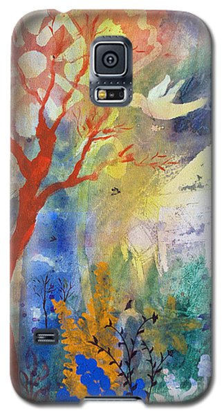 Galaxy S5 Case featuring the painting Moonlight Serenade by Robin Maria Pedrero