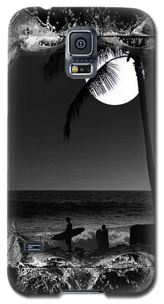 Galaxy S5 Case featuring the photograph Moonlight Surf by Athala Carole Bruckner