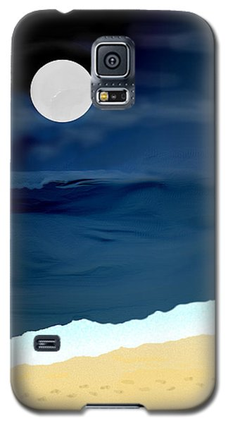 Moonlight Walk At Low Tide Galaxy S5 Case by Kae Cheatham
