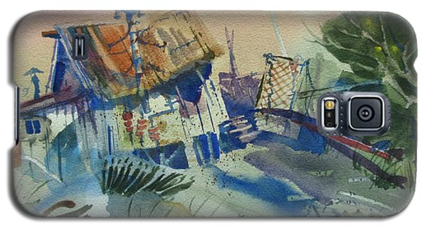 Moonlit Beach Shack Galaxy S5 Case