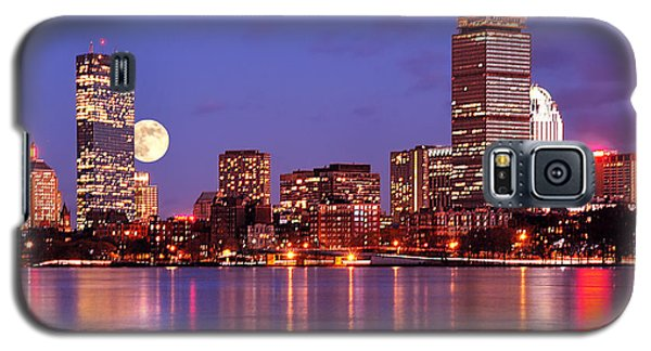 Moonlit Boston On The Charles Galaxy S5 Case by Mitchell R Grosky