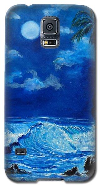 Moonlit Hawaiian Night Galaxy S5 Case by Jenny Lee