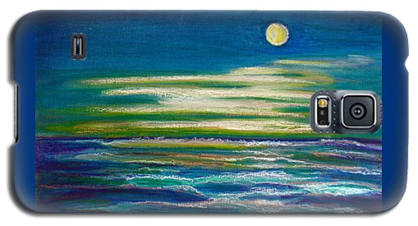 Galaxy S5 Case featuring the painting Moonlit Tide by D Renee Wilson