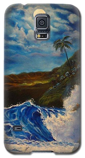 Moonlit Wave 11 Galaxy S5 Case by Jenny Lee
