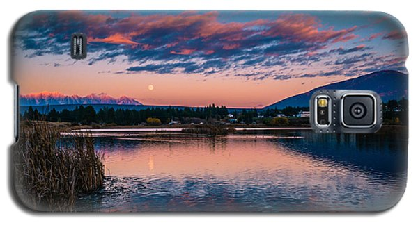 Galaxy S5 Case featuring the photograph Moonrise Cranbrook Baker Mountain by Rob Tullis