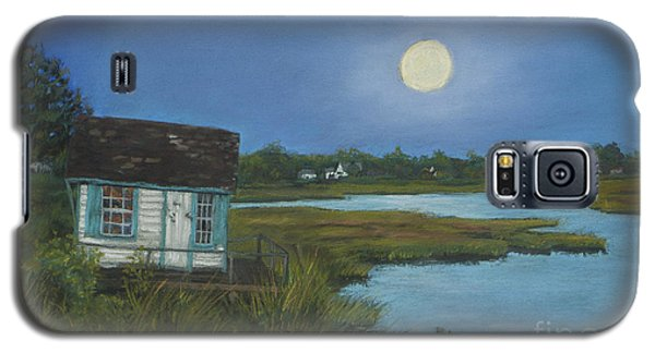 Galaxy S5 Case featuring the painting Moonrise Orient Point by Susan Herbst