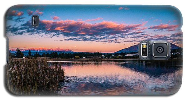 Galaxy S5 Case featuring the photograph Moonrise Over Elizabeth Lake by Rob Tullis