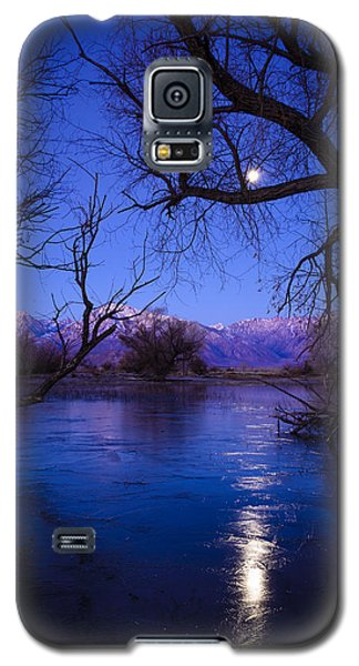 Moonset On Farmers Pond Galaxy S5 Case