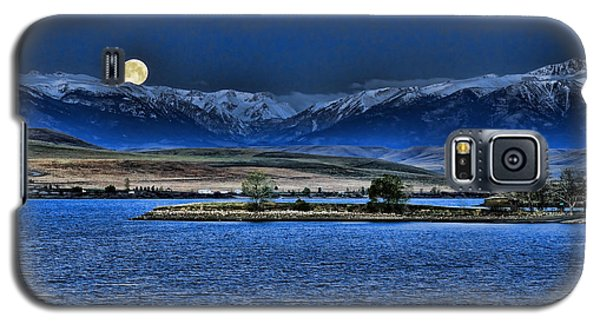 Moonset Over Cooney Galaxy S5 Case