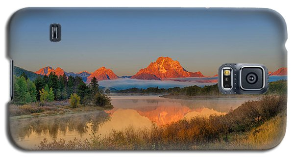 Moonset Over Oxbow Bend Galaxy S5 Case