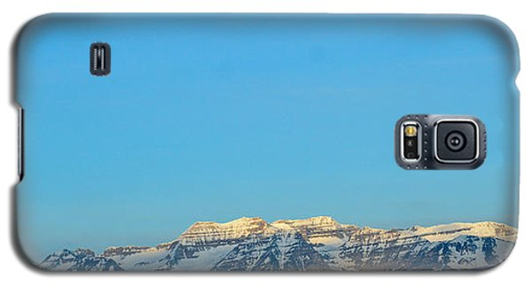 Moonset Over Timpanogos Galaxy S5 Case