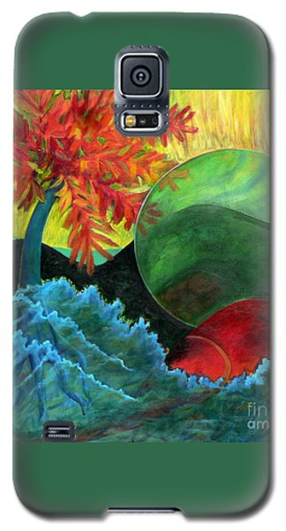 Galaxy S5 Case featuring the painting Moonstorm by Elizabeth Fontaine-Barr