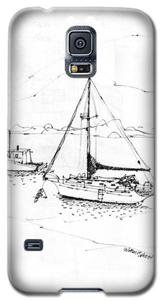 Moored Boats Monhegan Island Galaxy S5 Case