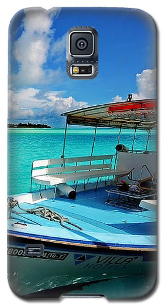 Moored Dhoni At Sun Island. Maldives Galaxy S5 Case