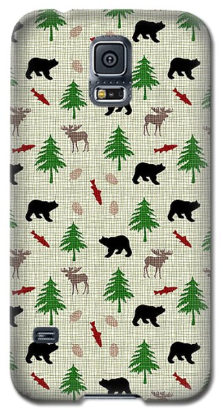 Moose And Bear Pattern Galaxy S5 Case