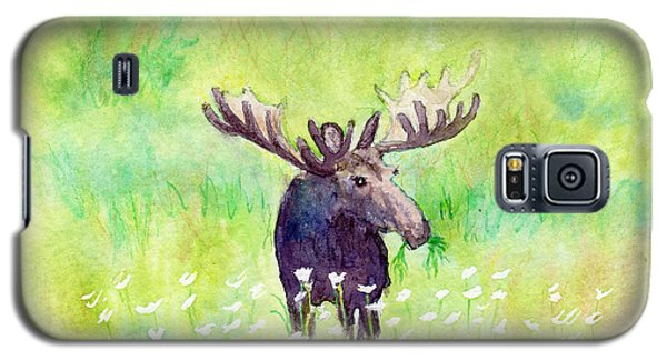 Moose In Flowers Galaxy S5 Case