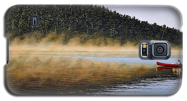 Galaxy S5 Case featuring the painting Moose Lake Paddle by Kenneth M  Kirsch