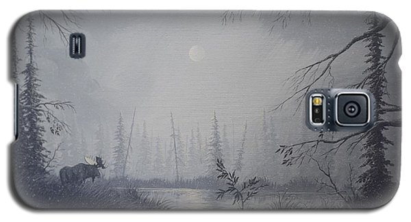 Galaxy S5 Case featuring the painting Moose Swanson River Alaska by Richard Faulkner