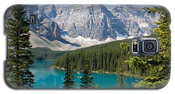 Galaxy S5 Case featuring the photograph Moraine Lake by Chris Scroggins