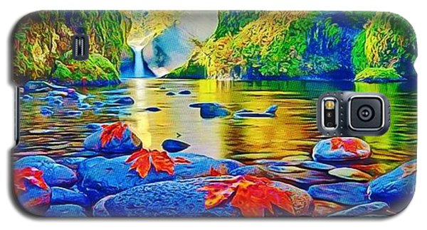 Galaxy S5 Case featuring the painting More Realistic Version by Catherine Lott