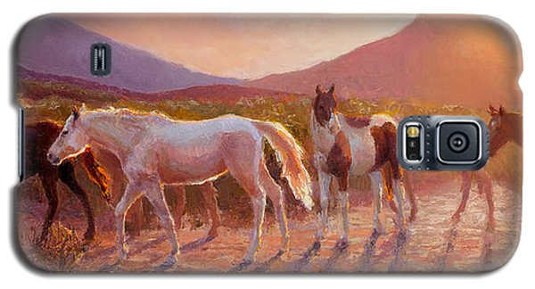 More Than Light Arizona Sunset And Wild Horses Galaxy S5 Case