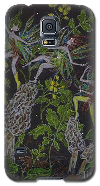 Galaxy S5 Case featuring the drawing Morels by Dawn Fairies