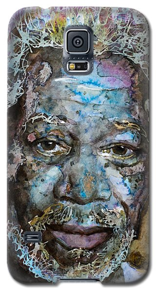 Galaxy S5 Case featuring the painting Morgan In Blue by Laur Iduc