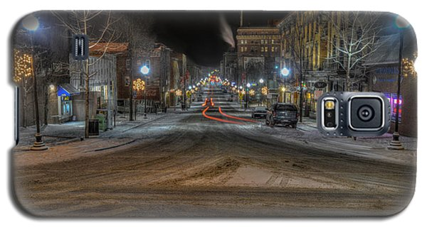 Morgantown High Street On Cold Snowy Night  Galaxy S5 Case