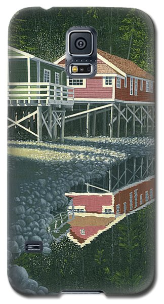 Galaxy S5 Case featuring the painting Morning At Telegraph Cove by Gary Giacomelli