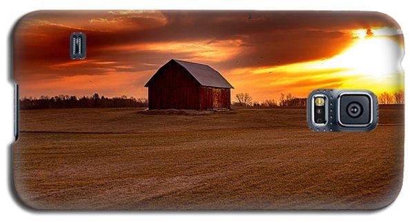 Morning Barn Galaxy S5 Case by Randall  Cogle