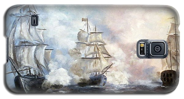 Galaxy S5 Case featuring the painting Morning Battle by Lee Piper