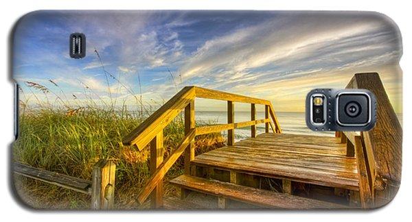 Morning Beach Walk Galaxy S5 Case