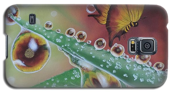 Galaxy S5 Case featuring the painting Morning Dew by Dianna Lewis