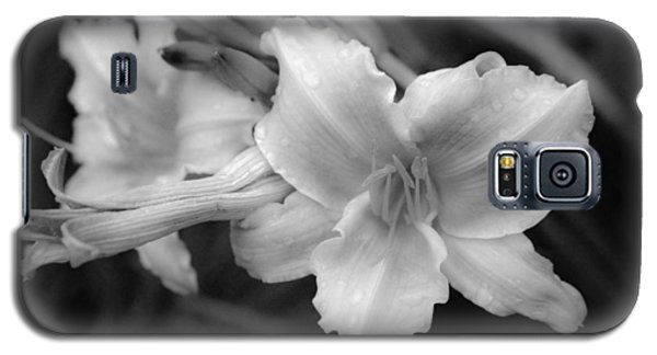 Galaxy S5 Case featuring the photograph Morning Dew On Lilies by Ross Henton