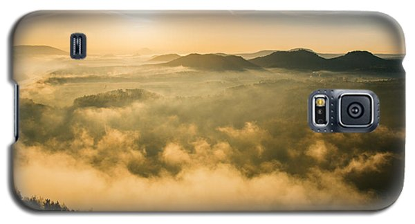 Morning Fog In The Saxon Switzerland Galaxy S5 Case